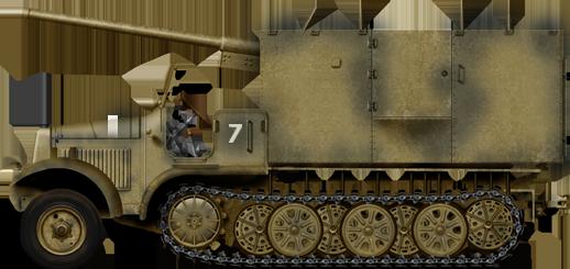 7.62cm Pak 36 (r) Auf 5t Zugkraftwagen Sd Kfz.6/3
